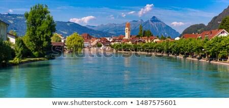 Interlaken and Aare river Stock photo © marekusz
