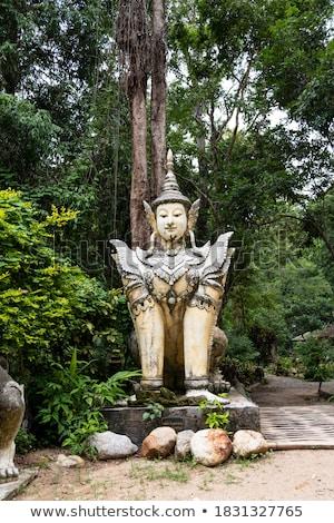 Guardião antigo fantasia templo 3D prestados Foto stock © ankarb