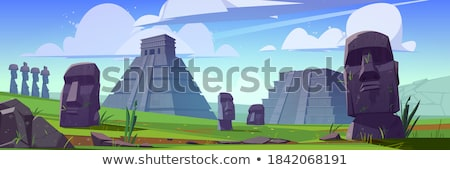 Mayan pyramid, illustration Stock photo © Morphart