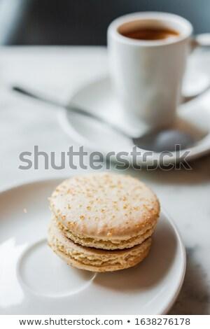 Macaron kurabiye tablo makro ev yapımı Stok fotoğraf © stevanovicigor