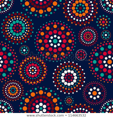 seamless pattern with concentric circles on dark blue backdrop vector background stock photo © rommeo79