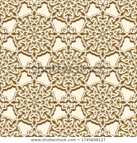 gold round vector seamless embossed ornate pattern  Stock photo © Galyna
