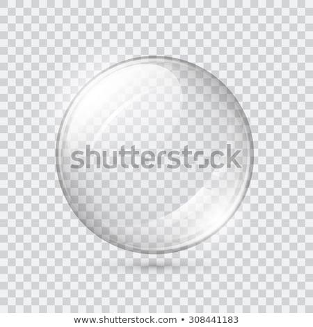 Glas bol Blauw grijs abstract achtergrond Stockfoto © djemphoto