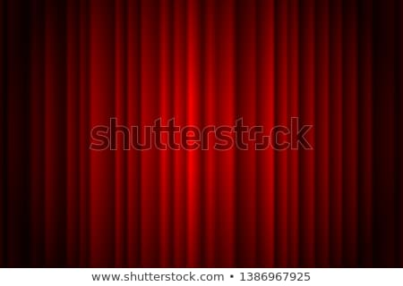 red curtain with spot light eps 10 stock photo © beholdereye