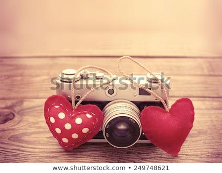 любви фотографии камеры красный сердце дизайна Сток-фото © shawlinmohd