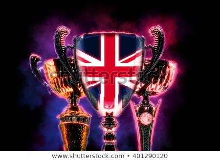 Trophée tasse pavillon Royaume-Uni numérique Photo stock © Kirill_M