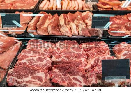 Stockfoto: Kwaliteit · vlees · slager · winkel · Rood