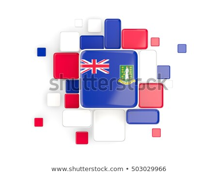 Background with square parts. Flag of virgin islands british. 3D Stock photo © MikhailMishchenko