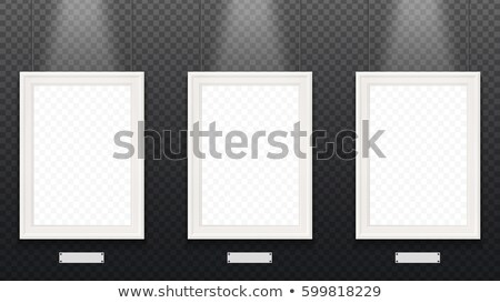 Three empty signboards Stock photo © bluering