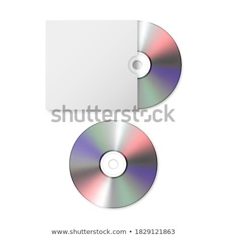 cd · papel · caso · isolado · branco · registro - foto stock © nicemonkey
