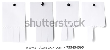 Stock fotó: Blank White Paper With Tear Off Tabs