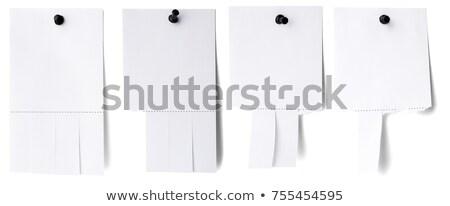 branco · papel · rasgar · isolado · negócio - foto stock © cherezoff