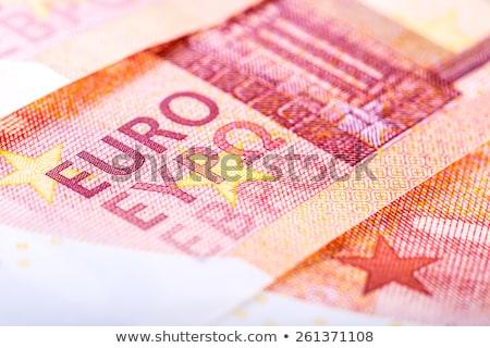új tíz Euro bankjegy közelkép izolált Stock fotó © michaklootwijk