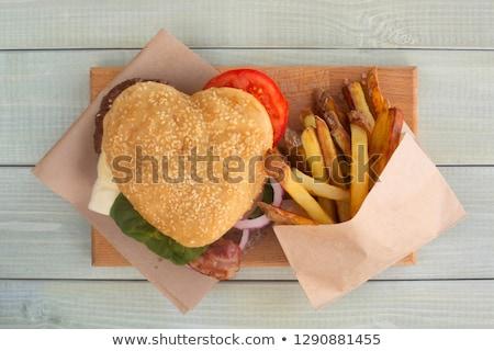 Hamburger diner sla kaas voedsel Stockfoto © Klinker