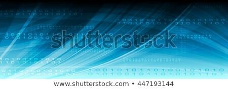 Kék háló vektor tech bináris kód fejléc Stock fotó © saicle