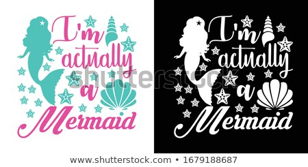 M is for mermaid Stock photo © bluering