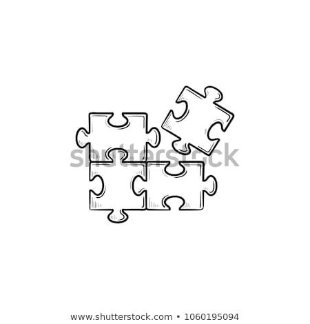 Doodle puzzel icon symbool cirkel Stockfoto © pakete