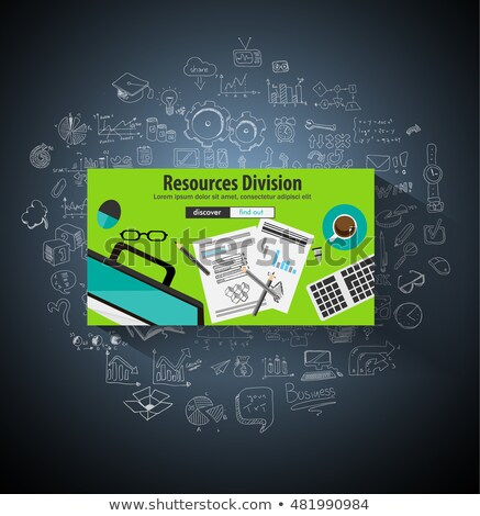 Business Resources Division concept  with Doodle design styl Stock photo © DavidArts
