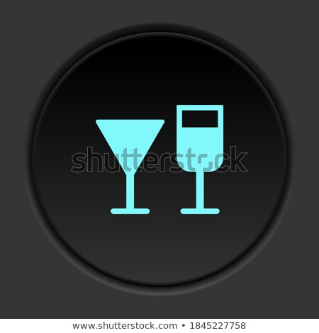 Buttons with wineglasses Stock photo © bluering