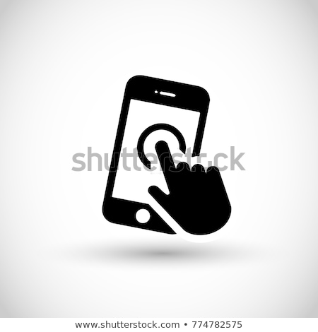 white smartphone apps and icons stock photo © cidepix