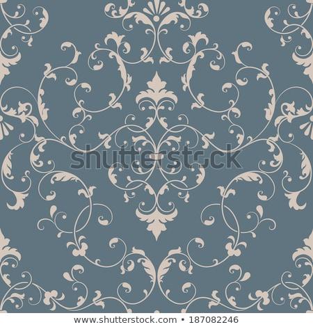 Brun baroque tourbillons vieux papier royal luxe Photo stock © Evgeny89
