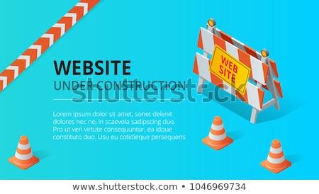 Budowy symbol ilustracja biały drewna ulicy Zdjęcia stock © bluering
