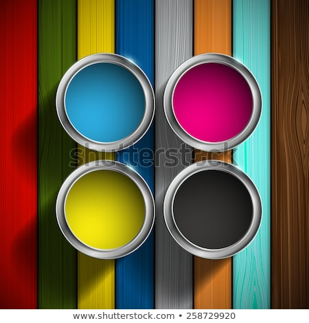 Four colorful wooden fences Stock photo © bluering