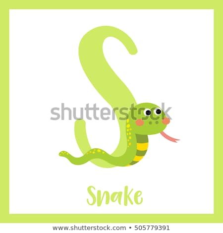 Lettre serpent illustration enfants enfant fond Photo stock © bluering