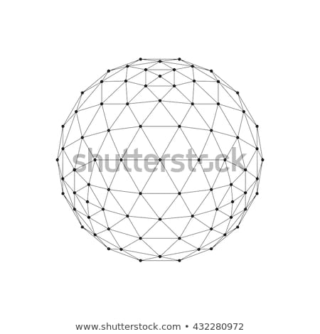 3D octahedron wireframe mesh sphere. Network line, HUD design sphere. Vector Illustration EPS10 Stock photo © Said