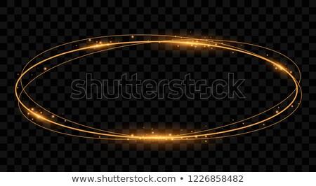 Ardiente oval banner rojo llamas decorado Foto stock © blackmoon979