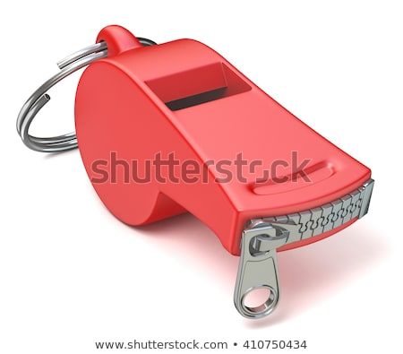 Stock photo: Red Whistle With A Closed Zipper 3d