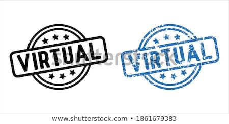 VR rubber stamp Stock photo © IMaster
