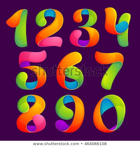 colorful numbered label Stock photo © SArts