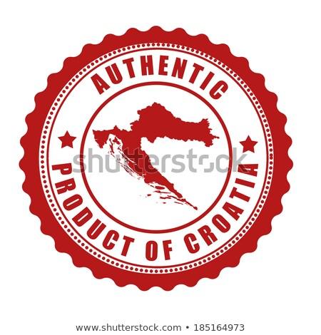 Made in Croatia rubber stamp Stock photo © 5xinc