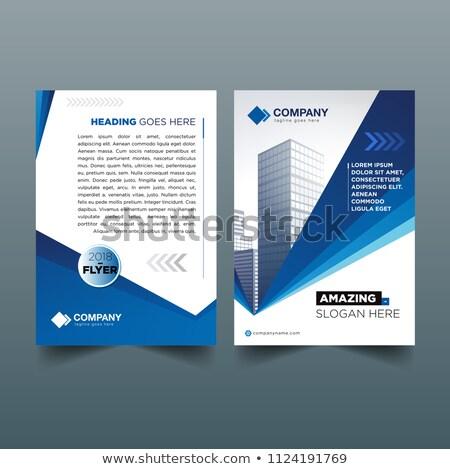 Brosúra sablon elrendezés éves jelentés borító Stock fotó © SArts