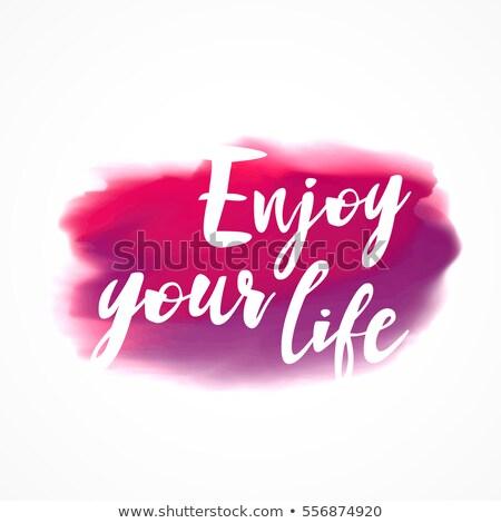 Roze aquarel inkt vlek genieten leven Stockfoto © SArts