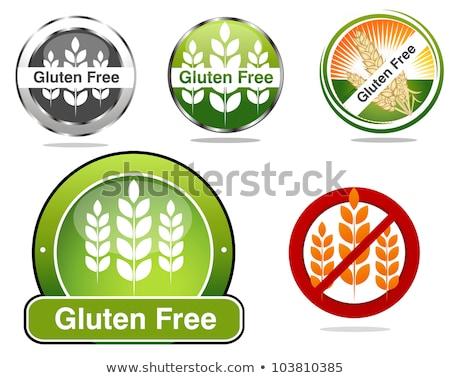 glutenvrij · icon · stijl · voedsel · allergie · teken - stockfoto © tefi