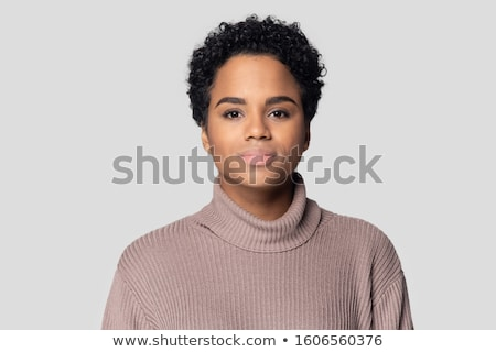 tête · coup · femme · pense · visage · portrait - photo stock © monkey_business