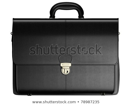 Black Business Briefcase Isolated On White Background Material Photo stock © Supertrooper