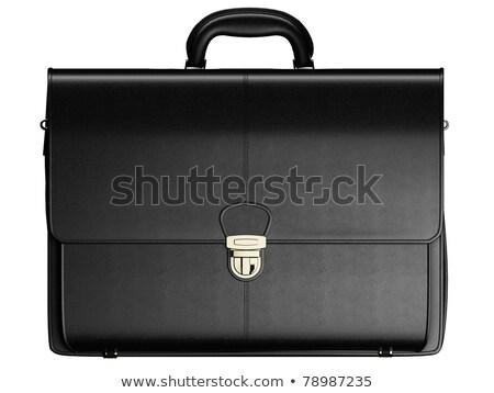 ビジネス · ブリーフケース · 孤立した · 白 · 黒 - ストックフォト © kayros