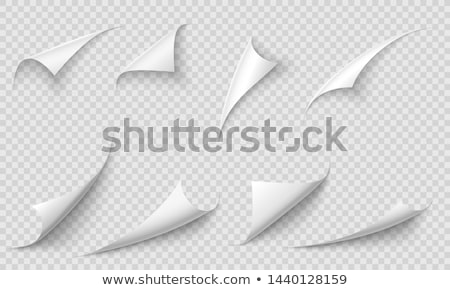 Blank sheet with curled corner.  Stock photo © pakete