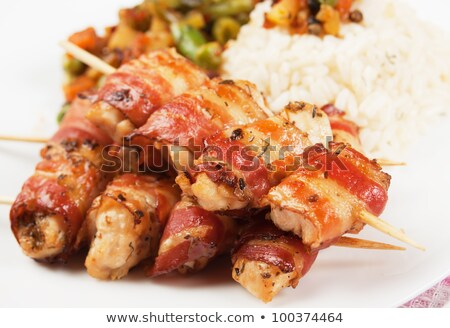 Сток-фото: Chicken Skewers With Bacon