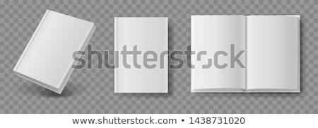White book closed and open Stock photo © romvo