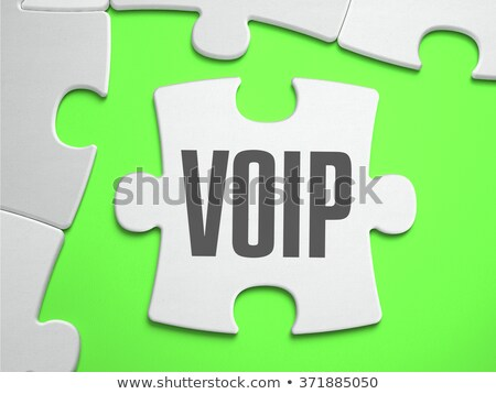 VoIP - Jigsaw Puzzle with Missing Pieces. Stock photo © tashatuvango