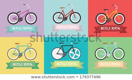 レトロな 自転車 デザイン 自転車 アイコン 芸術 ストックフォト © NikoDzhi