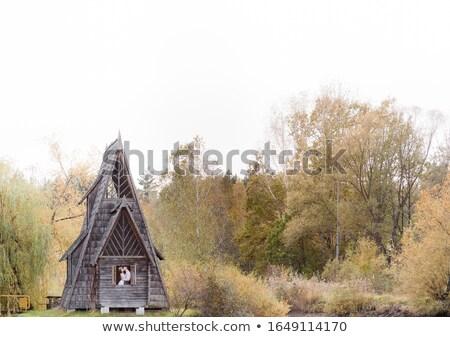 Foto hermosa Pareja naturaleza cabaña Foto stock © tekso