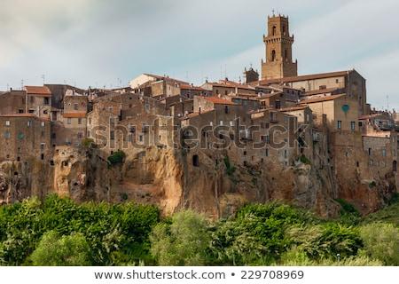 panoramik · görmek · Toskana · kule - stok fotoğraf © master1305