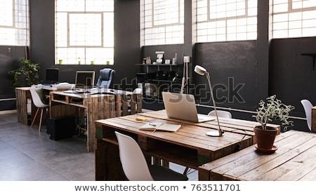 Modern iroda fényes irodai munka asztal kellékek Stock fotó © manera