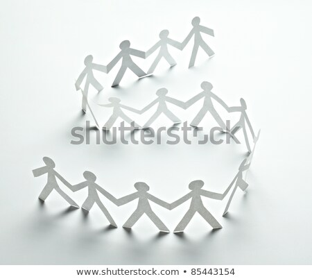 Paper women holding hands in the shape of a circle. Stock photo © m_pavlov