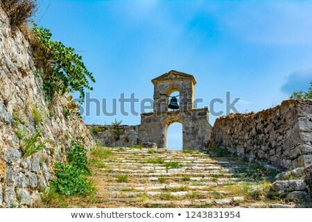 Ortodoxo capela veneziano castelo grego ilha Foto stock © ankarb